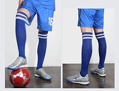 4 Pairs Boys Girls Soccer Socks Towel Cushioning Compression Sport Socks Cotton Team Socks for Children /& Kids /& Teenagers White