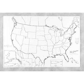 This Item Pac78760 Giant Us Map 48in X 72in