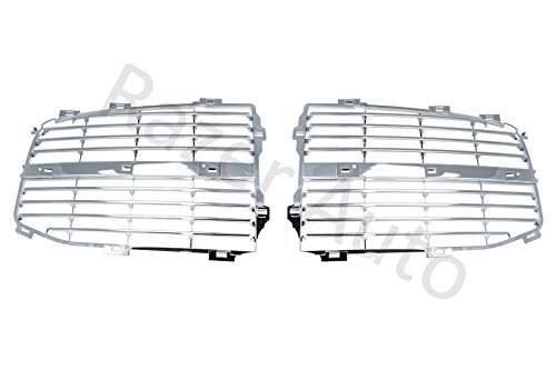 Razer Auto Chrome Grille Replace Grill Trim Insert 1 Set kit for 06-08 Dodge RAM 1500/06-09 Dodge Ram 2500/3500 06 07 08 -