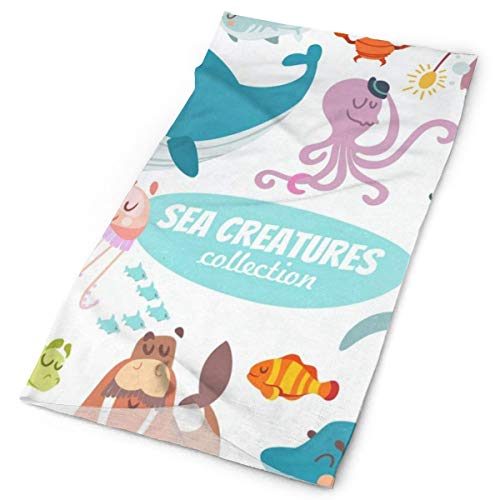 Headband Sea Creatures Collection Sports Headwear Outdoor Scarf Mask Neck Gaiter Head Wrap Sweatband