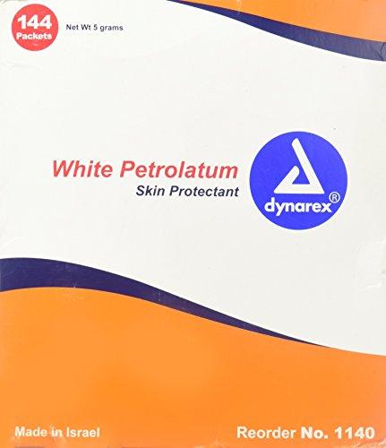 White Petrolatum Jelly - Dynarex White Petrolatum Foil Packs