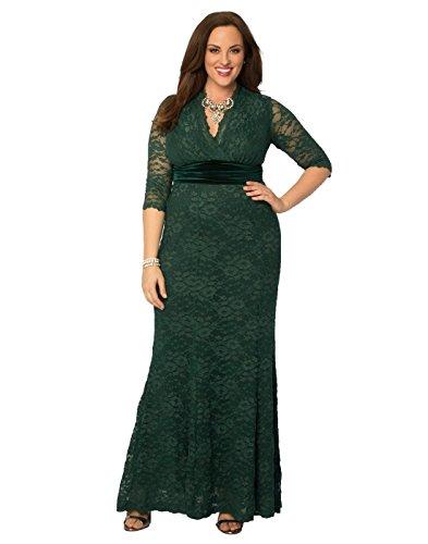 Kiyonna Women's Plus Size Luxurious Lace Gown