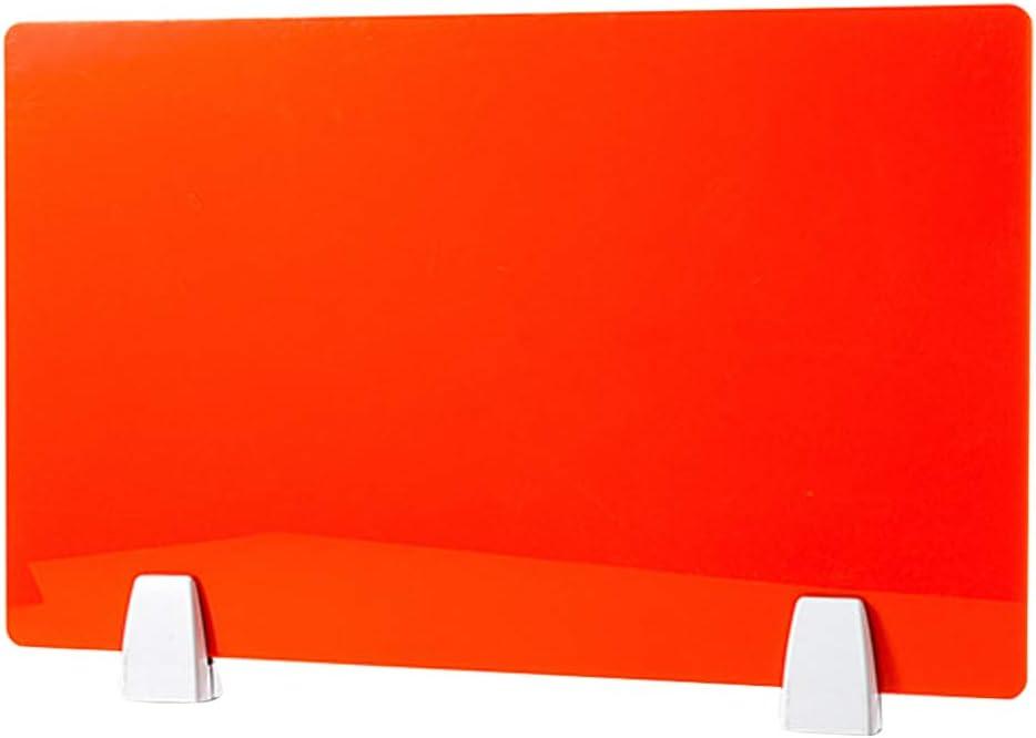 Sound Absorbing Clamp-on Cubicle Desk Divider Partition Panel GETZ MSYO Desktop Privacy Divider Plexiglass Sneeze Guard 6 Colors /& 6 Sizes