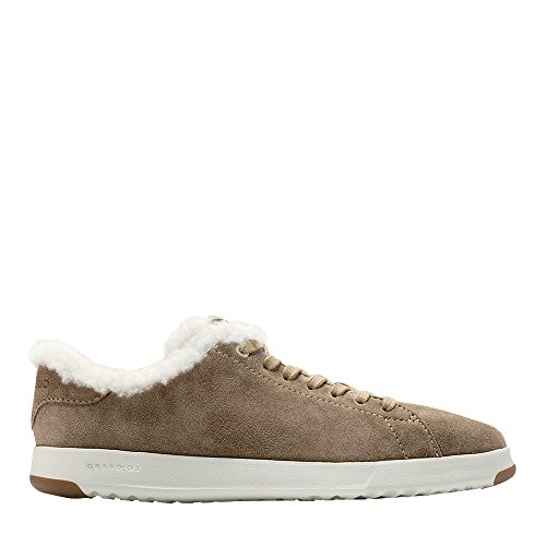 Cole Haan Women's Grandpro Tennis Leather Lace Ox Fashion Sneaker Warm Sand Oiled Suede-shearling original cheap price 4pxRJGN