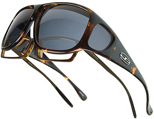 Fitovers Eyewear Aviator Sunglasses (Dark Tortoise, PDX - Large Men Aviator For Sunglasses Extra