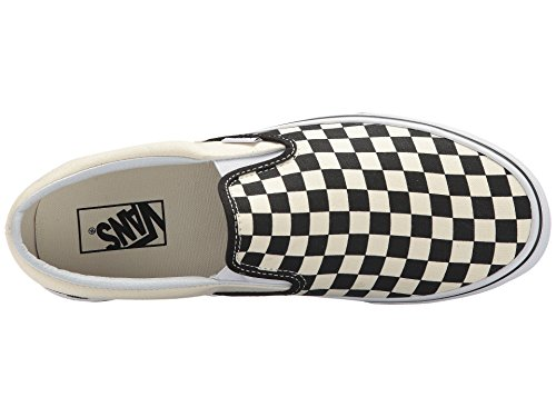 Classic on Unisex White Trainers Vans Checkerboard Adults' Black Off Slip Canvas 1EfOpxq