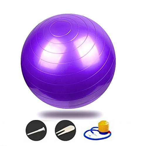 Exercise Ball - 2,000 lbs Stability Ball - Professional Grade – Anti Burst Exercise Equipment for Home, Balance, Gym, Core Strength, Yoga, Fitness, Desk Chairs - 55/65/75 CM