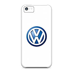 Scratch Protection Hard Cell-phone Cases For Iphone 5c With Support Your Personal Customized High Resolution Vw Logo Image LavernaCooney