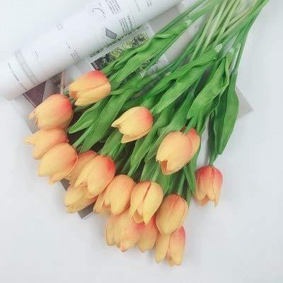 (Annibus Flower Tulip: 21pcs 31pcs Tulip pu Flower Real Touch Wedding Flower Bouquet Artificial Flora for Home Birthday Party Decoration)