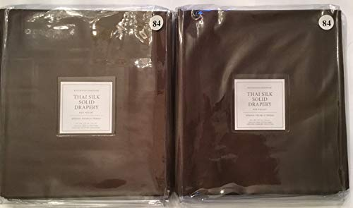 Restoration Hardware Thai Silk Solid Drapery Rod Pocket ~Set of Two~ 50