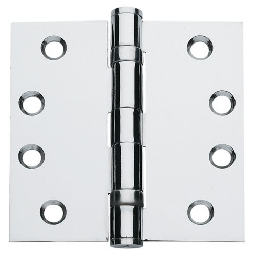 Global Door Controls 4.5 in. x 4.5 in. Bright Chrome Ball Bearing Hinge - Set of 3
