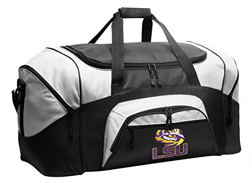 Large LSU Duffel Bag LSU Tigers Gym Bags or Suitcase by Broad Bay