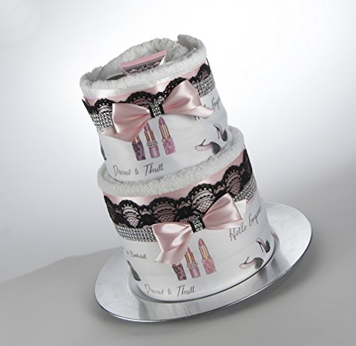 The ''Glamourous'' Towel Cake. Bridal Shower Gift or Centerpiece. by Sassy and Sweet Boutique