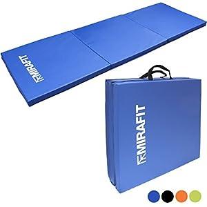 MiraFit Zusammenklappbare Gymnastikmatte - für Fitness/Workout/Yoga/Pilates -...