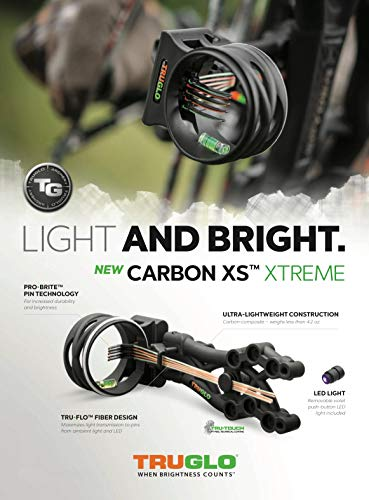 TRUGLO Carbon XS Xtreme Ultra-Lightweight Carbon-Composite Bow Sight