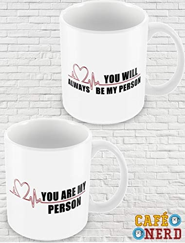 CANECAS GREY'S ANATOMY YOU ARE MY PERSON (KIT)