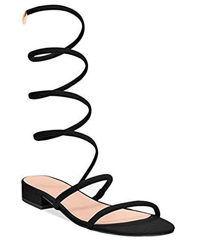 Avec Les Filles Womens Caila Open Toe Beach Ankle Strap Sandals, Black, Size 7.5