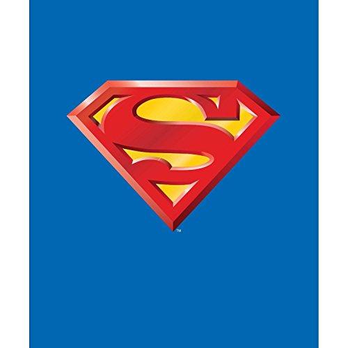 Superman Shield Queen Size Plush Blanket 79'' x 95'' by Ben&Jonah