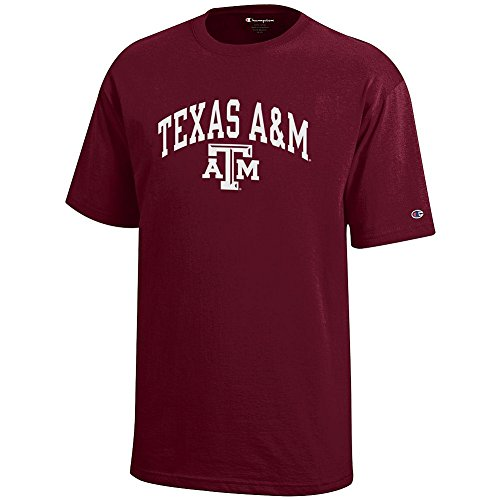 Elite Fan Shop Texas A&M Aggies Kids Tshirt Varsity Maroon - L
