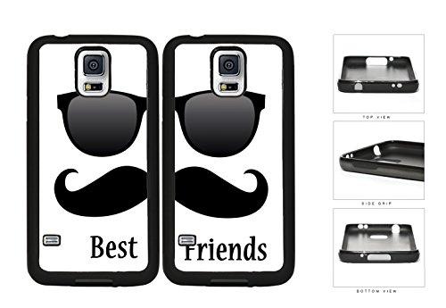 Best Friends Black Mustache Sunglasses Rubber Silicone TPU Cell Phone Case Samsung Galaxy S5 SM-G900