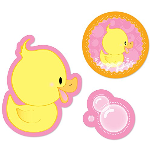 Pink Ducky Duck Birthday Cut Outs