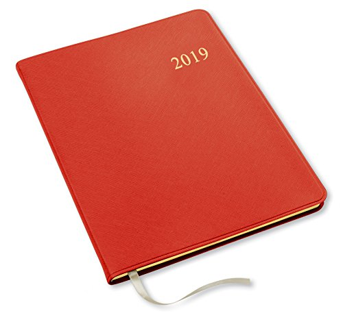 2019 Gallery Leather Large Weekly Planner Key West Red 9.75