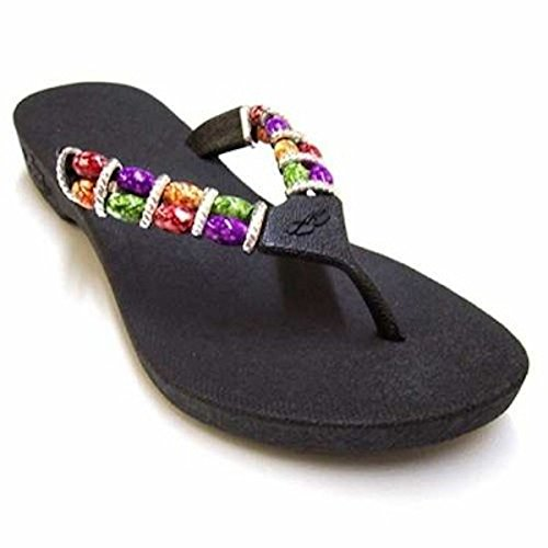 2449d251e85 Pali Hawaii Beaded Thong Sandals