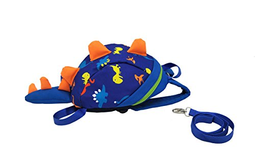 Monitor The Baby Pooh Winnie (Longxing 3D Dinosaur Design Safety Leash Harness Bag Mini Backpack for Toddlers Kids (blue))