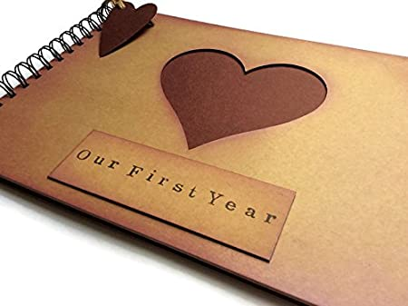 Our First Year Anniversary Memory Book Scrapbook Photo Album