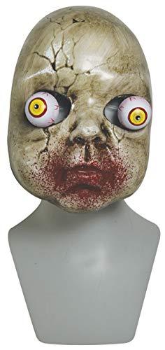 Plastic Zombie Baby Mask Bulging Eyes, 9 -