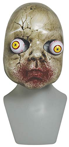Plastic Zombie Baby Mask Bulging Eyes, 9 Inch -