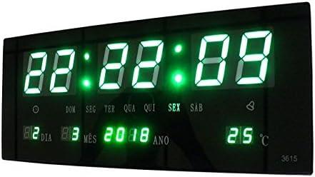 828981a3f80 Relogio De Parede Led Verde Digital Alarme Data Termo (BSL-REL-58)   Amazon.com.br  Eletrônicos