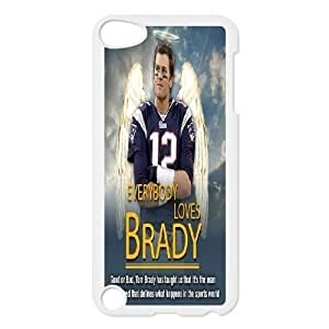 Custom Tom Brady Ipod Touch 5 Cover Case, Tom Brady Customized Phone Case for iPod Touch5 at Lzzcase