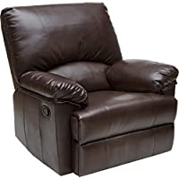 Relaxzen Rocker Recliner, Brown Marbled Leather