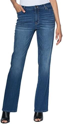 De la Mujer Plus Tamaño Tall Bootcut Jeans con elástico cintura Invisible