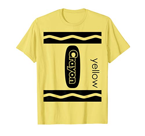 Yellow Crayon Halloween Couple Friend Group Costume T-shirt