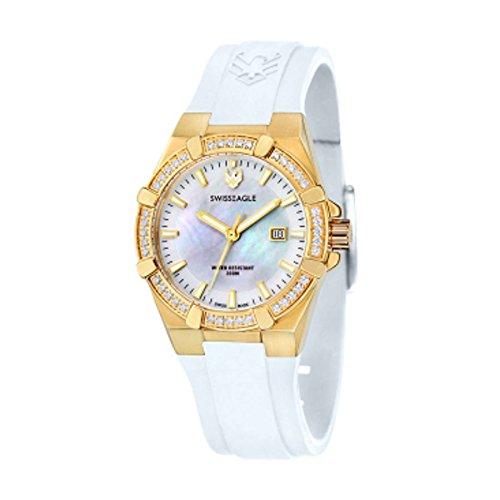 Swiss Eagle Women's SE-6041-05 Glide Analog Display Swiss Quartz White Watch