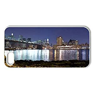 a rocky shore - Case Cover for iPhone 5 and 5S (Watercolor style, White)
