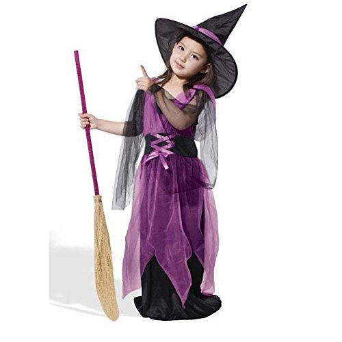 Common Halloween Toddler Costume Set Fancy Cosplay Party Clothing for Children Kids(110-Purple)
