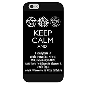 UniqueBox - Customized Black Frosted iPhone 6 5.5 Case, Supernatural iPhone 6 Plus case, Only fit iPhone 6+ (5.5 Inch)