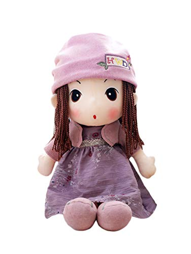 HWD 16'' Plush Girl Toys Doll , Soft Stuffed Figure Dolls , Clothes Detachable (Purple) from HWD