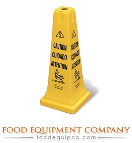 Rubbermaid Safety Cone, Caution, Eng/Sp/Fr Yellow Plastic FG627700YEL - 1 Each ()