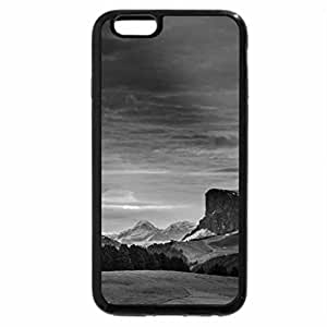 iPhone 6S Plus Case, iPhone 6 Plus Case (Black & White) - cabins in the austrian alps in summer hdr