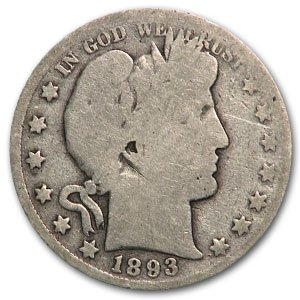 1893 O Barber Half Dollar AG Half Dollar About Good