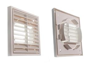Louvre air vent ventilation grille exterior or interior use 100mm industrial pumps - Interior door vent grill ...