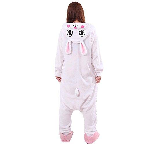 XMiniLife White Rabbit Unisex Adult Halloween Kigurumi Onesie/S (Adult Lilo Costume)