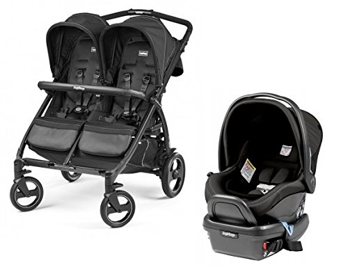 Peg Perego Book For Two With Car seat Adapter and Car seat (1 Car Seat/1 Adapter, (Peg Perego Adaptor)