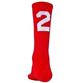 Amazon.com: Number calcetines largos, Rojo, M: Clothing