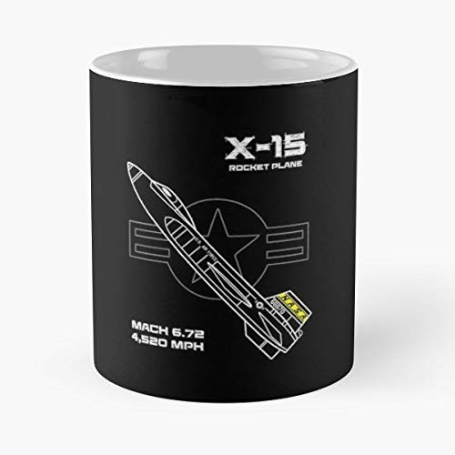 - X 15 Rocket Plane Morning Coffee Mug Ceramic Novelty Holiday