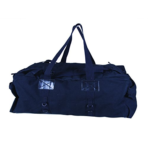 Stansport Duffel Bag (Stansport Tactical Canvas Duffle Bag, Black, 34 x 15 x 12-Inch)